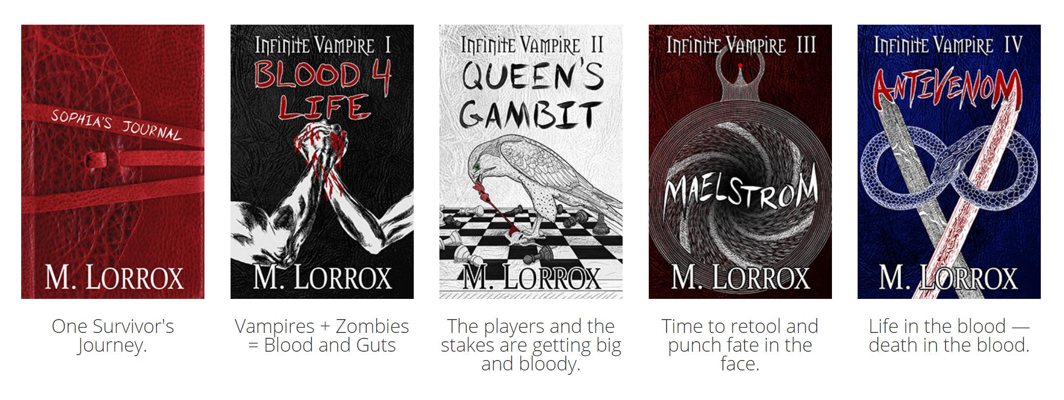 Infinite Vampire book covers
